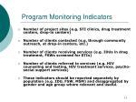 program monitoring indicators1