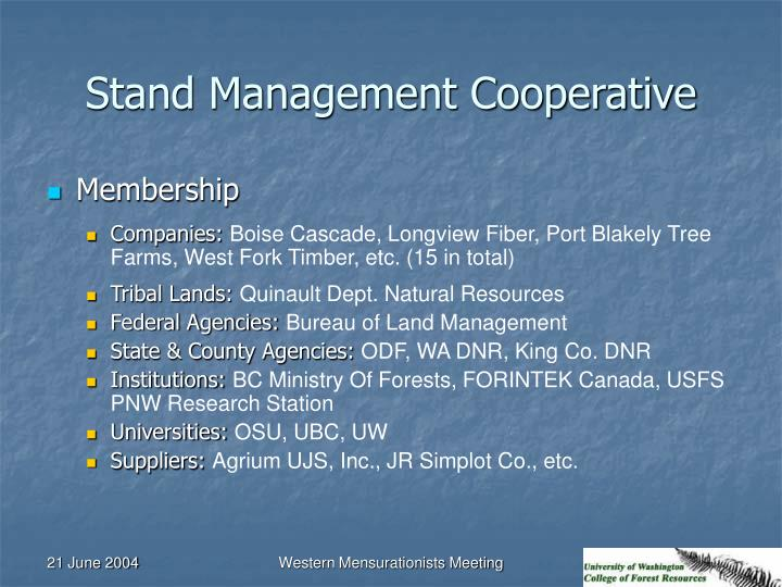 Stand Management Cooperative