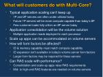 what will customers do with multi core