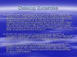 desktop excercise