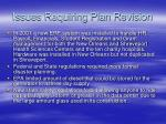 issues requiring plan revision
