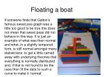 floating a boat