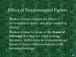 effect of environmental factors