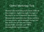 global marketing task