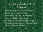 internationalization of us business