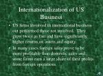 internationalization of us business1