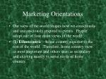 marketing orientations
