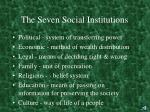the seven social institutions