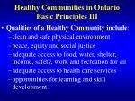 healthy communities in ontario basic principles iii