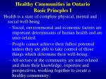 healthy communities in ontario basic princples i