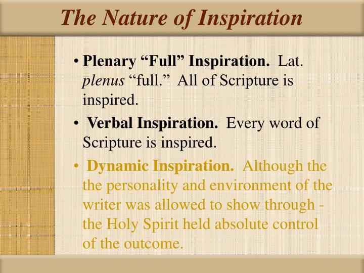 The Nature of Inspiration
