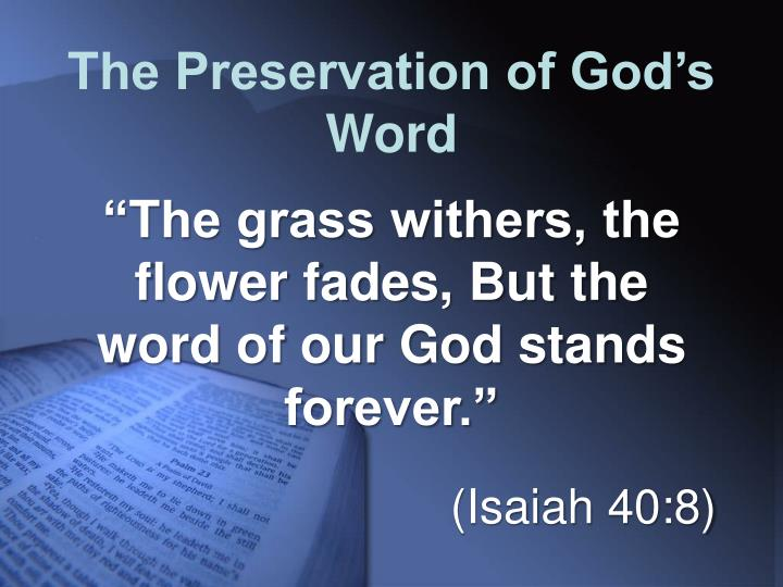 The Preservation of God's Word