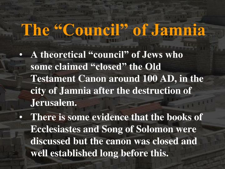 "The ""Council"" of Jamnia"