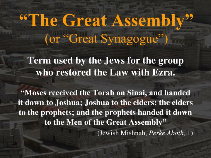 """The Great Assembly"""