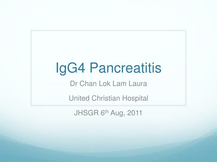 igg4 pancreatitis n.