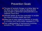prevention goals