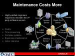 maintenance costs more