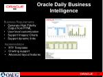 oracle daily business intelligence