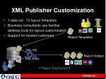 xml publisher customization