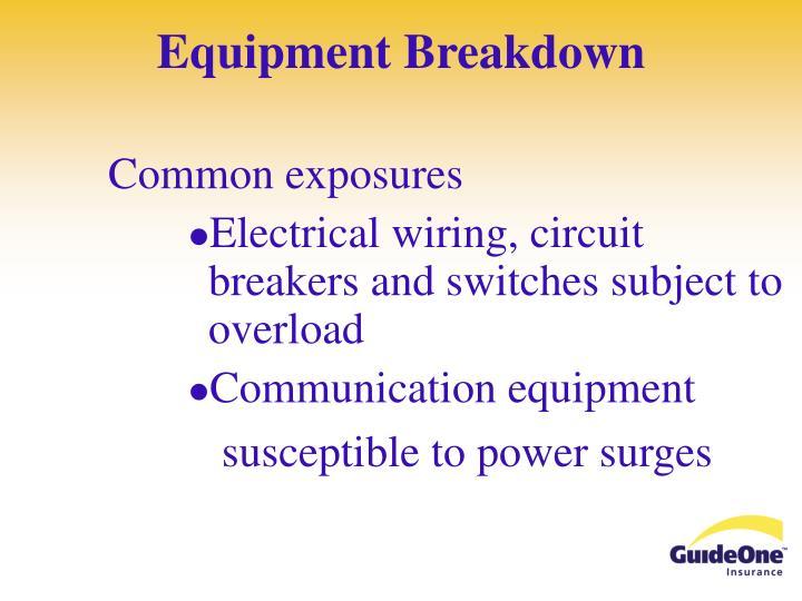 Equipment Breakdown