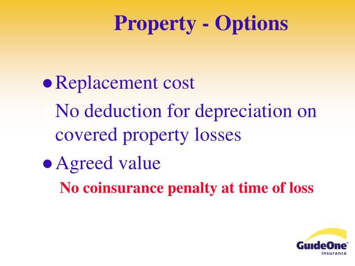 Property - Options