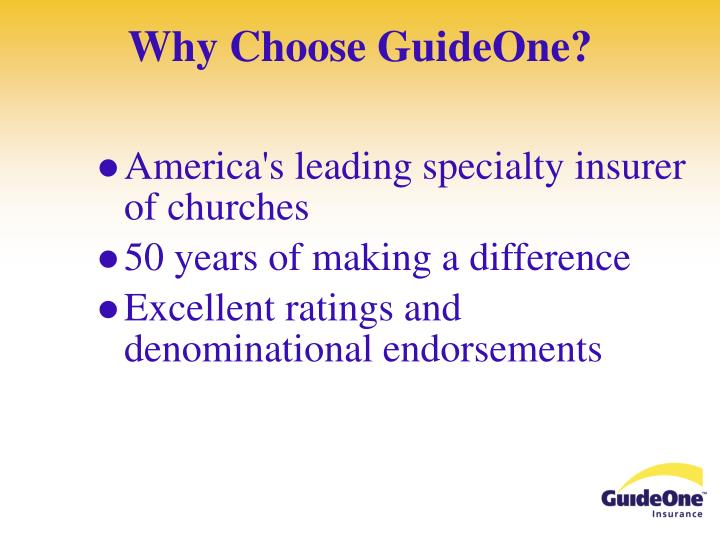 Why Choose GuideOne?