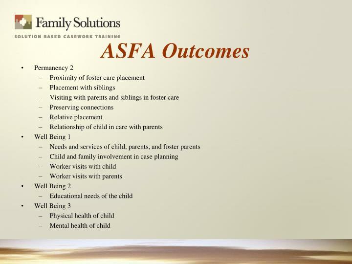 ASFA Outcomes