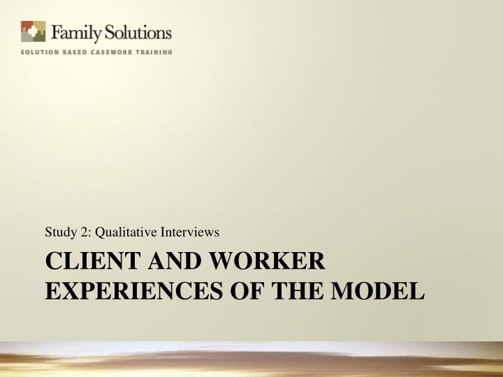 Study 2: Qualitative Interviews