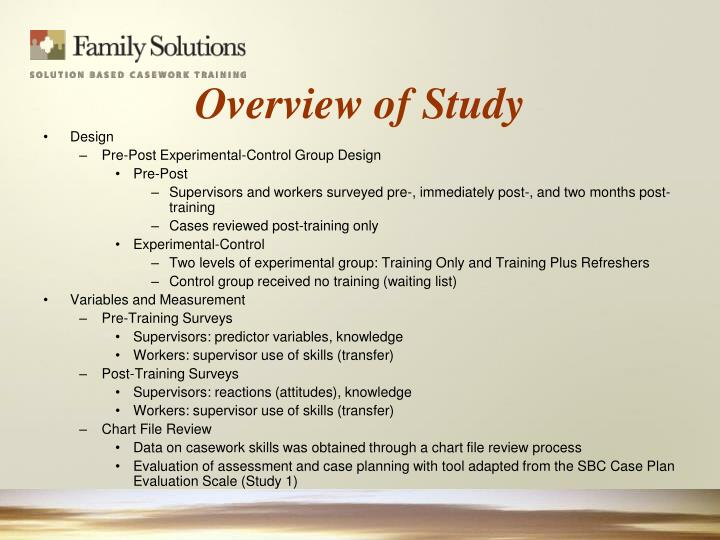 Overview of Study