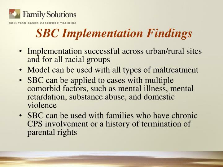 Implementation successful across urban/rural sites and for all racial groups