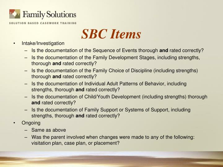 SBC Items