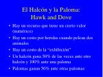 el halc n y la paloma hawk and dove