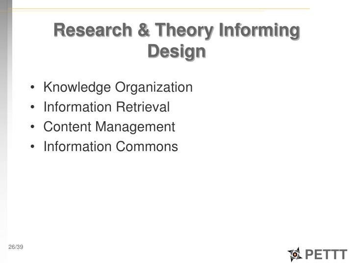 Research & Theory Informing Design