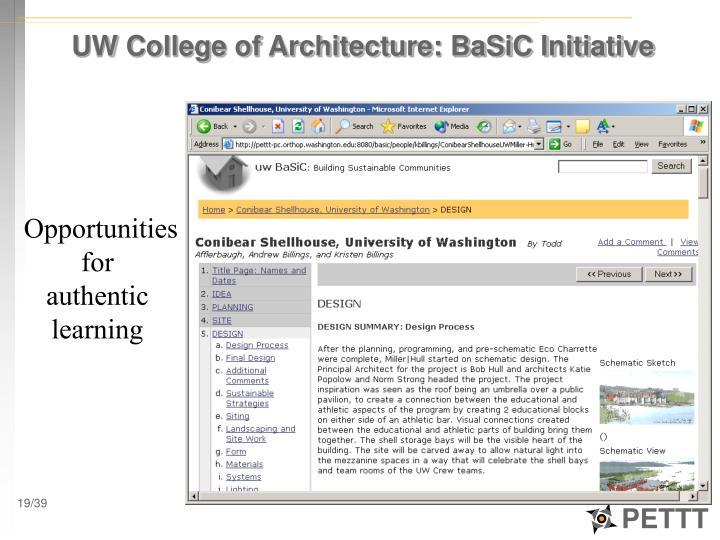 UW College of Architecture: BaSiC Initiative