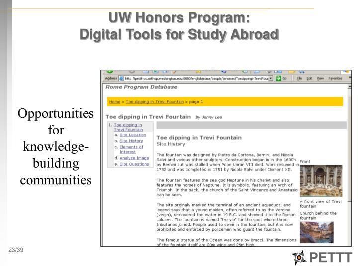 UW Honors Program: