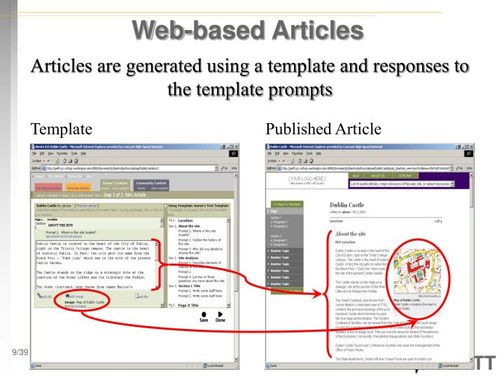 Web-based Articles