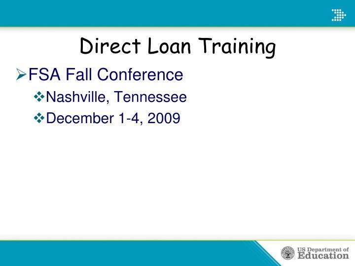 Direct Loan Training