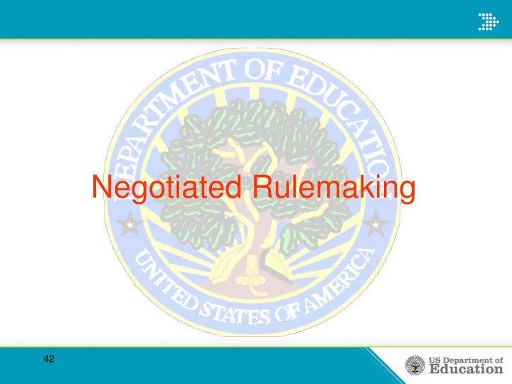 Negotiated Rulemaking