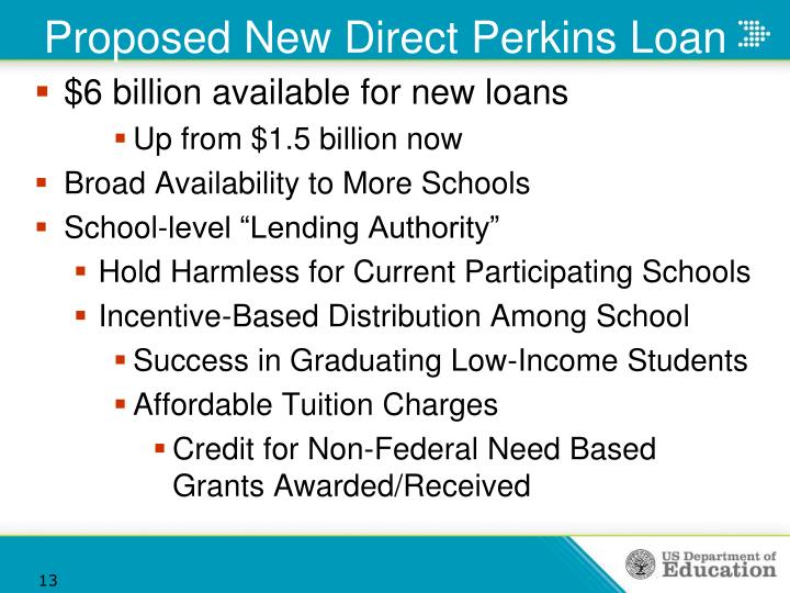 Proposed New Direct Perkins Loan