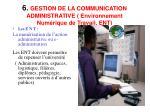 6 gestion de la communication administrative environnement num rique de travail ent