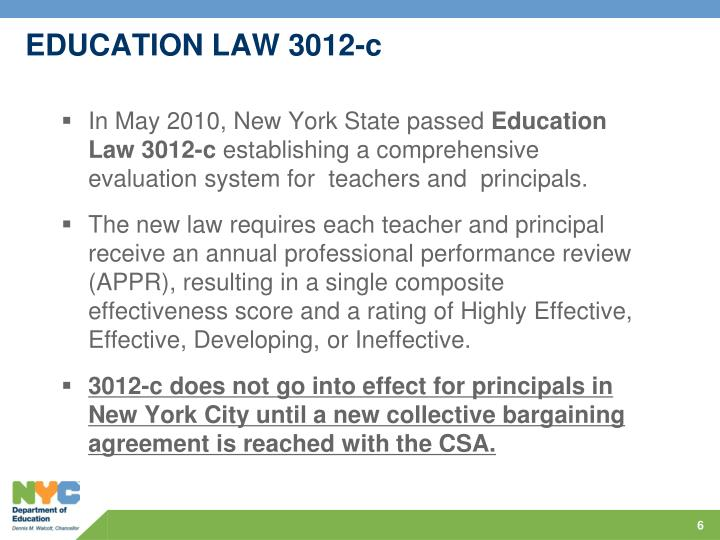 EDUCATION LAW 3012-c