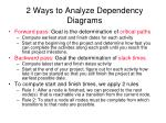 2 ways to analyze dependency diagrams