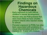 findings on hazardous chemicals