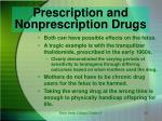 prescription and nonprescription drugs