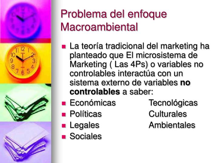 Problema del enfoque Macroambiental