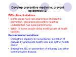 develop preventive medicine prevent epidemics 2