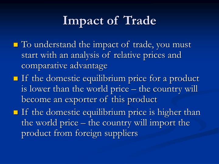 Impact of Trade