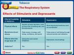 effects of stimulants and depressants