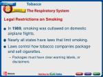 legal restrictions on smoking