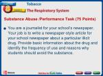 substance abuse performance task 75 points